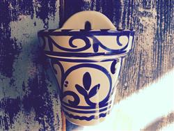 Retro Azul Wall plant pot